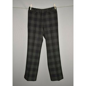 WORTHINGTON Black Stitch Plaid Curvy Trouser